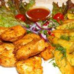 Hauptgerichte mit Fleisch und Gemüse im Georgischen Restaurant Tamada in Köln - georgische Küche und Wein aus Georgien
