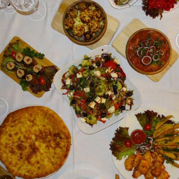 Küche aus Georgien im Georgischen Restaurant Tamada in Köln